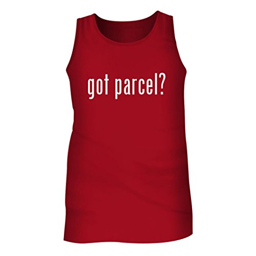 Tracy Gifts Got parcel? - Men's Adult Tank Top, Red, - Merchandise Parcel Service United
