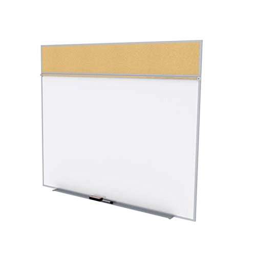 Ghent 5 x 10 Feet Combination Board, Porcelain Magnetic Whiteboard and Natural Cork Bulletin Board , Made in the USA