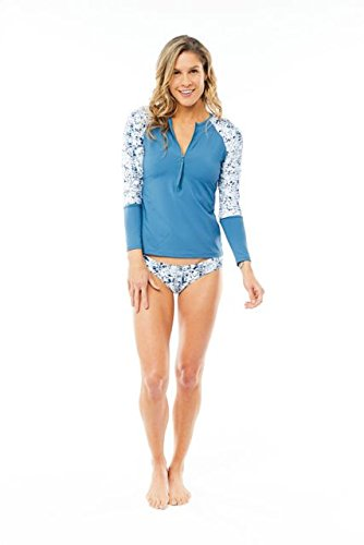CARVE Designs Kona Rash Guard, Small, Indigo
