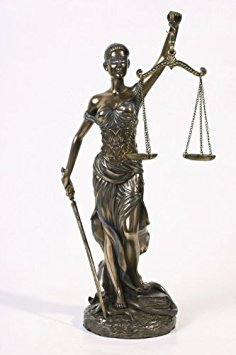 * Sale * Blind Lady Justice Statue Law Office Lawyer Gift - Magnificent !!