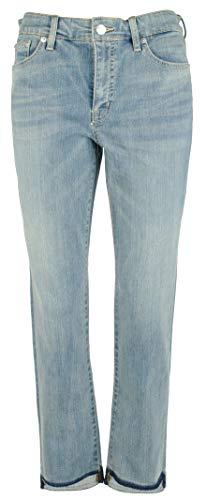 (LAUREN RALPH LAUREN Women's Petite Premier Straight Ankle Jeans-BLU-4P)