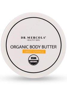 Dr. Mercola, Organic Revitalizing Body Butter Sweet Orange, 4 oz (113 g), non GMO, Soy-Free, Gluten Free, Cruelty Free, USDA Organic