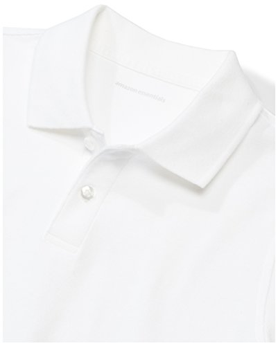 Amazon Essentials Boys' 5-Pack Short-Sleeve Uniform Pique Polo, White Pack, XL (12) by Amazon Essentials (Image #4)