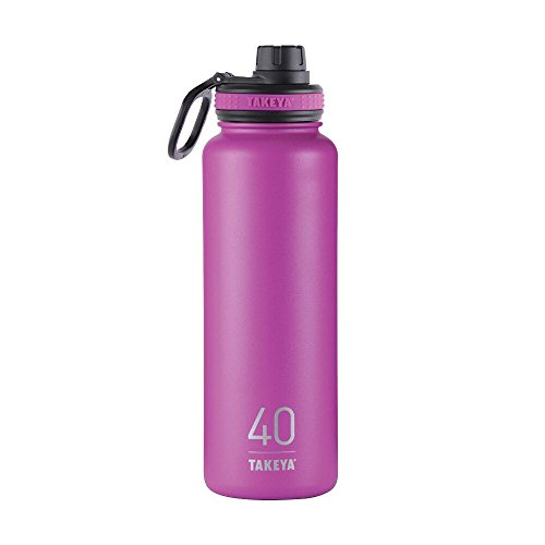 Takeya Originals Insulated Stainless Steel Water Bottle, 40 oz, Orchid
