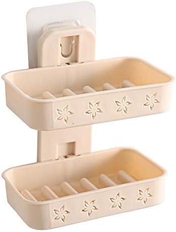 AAPP SHOP Caja de jabón de Doble Capa Colgar en la Pared Ventosa Caja de jabón de Drenaje Pasta electrostática baño lavandería Estante Estante Creativo sin Golpes, arroz nórdico Vertical: Amazon.es: Hogar