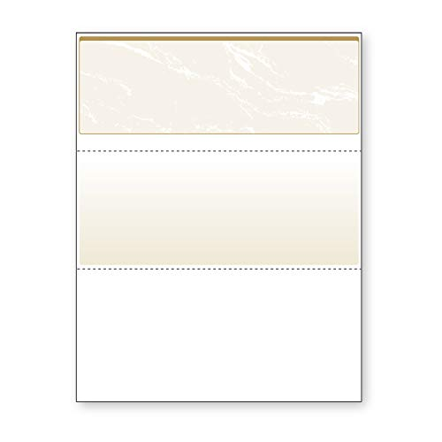 Gold Stock (DocuGard Gold Marble Top Check, 8.5 x 11 Inches, 24 lb, 500 Sheets, 1 Check Per Sheet (04505))