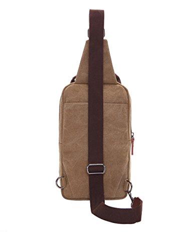 Wewod pecho Paquete/paquetes/hombre bolso de la lona de la moda retro de la coreano 19 x 31 x 9 cm (L*H*W) Caqui