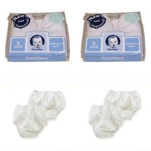 Gerber Plastic Pants, 2T , Fits 28-32 lbs. (4 pairs) by Gerber