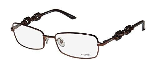 Missoni 15802 Womens/Ladies Butterfly Full-rim Flexible Hinges Eyeglasses/Eyeglass Frame (53-17-130, - Glasses Frames Missoni