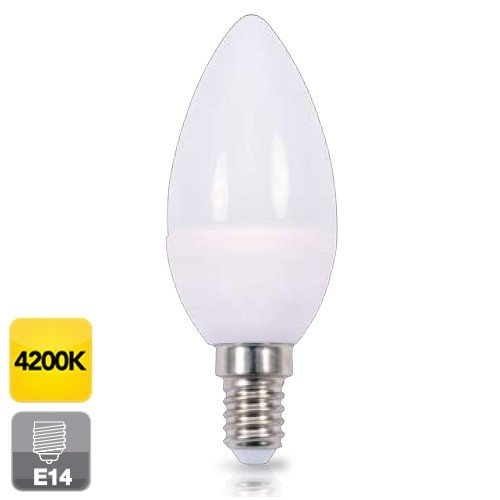 Bombilla de led de vela E14 6W luz día 4200K 560 lm GSC 2002371: Amazon.es: Iluminación