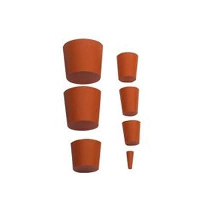 neoLab 1-1015 Gummistopfen, 18 mm x 14 mm, 20 mm hoch, Rot (10-er Pack)