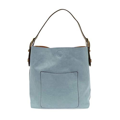 Joy Susan Classic Hobo Handbag (Seersucker Blue)