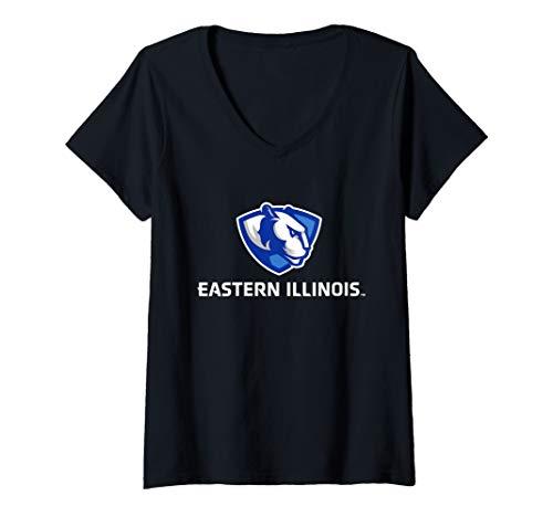 Womens Eastern Illinois Panthers University NCAA RYLEIU06 V-Neck T-Shirt