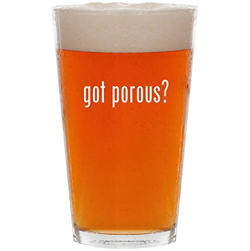 got porous? - 16oz All Purpose Pint Beer Glass - Clay Papermate Pens