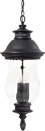 - Minka Lavery Outdoor Pendant Lighting 8904-94, Newport Cast Aluminum Ceiling Lighting for Patio, 160 Watts, Heritage