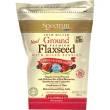 Spectrum Essentials Ground Flax Seed with Mixed Berry, 12 Ounce - 6 per case.
