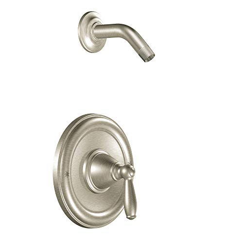(Moen T2152NHBN Brantford Posi-Temp Pressure Balancing Shower Trim Kit without Showerhead Valve Required, Brushed Nickel )