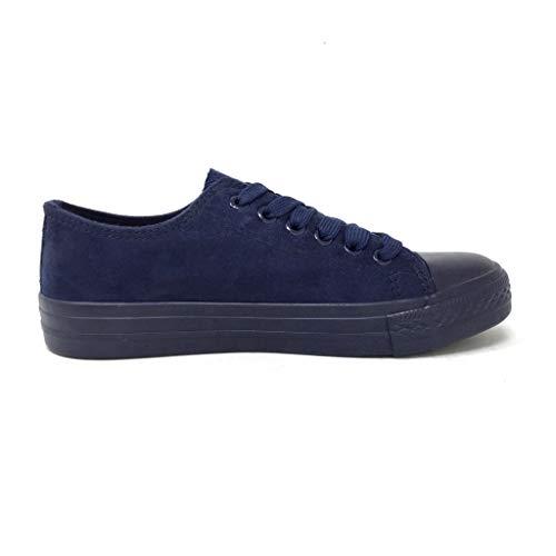 6 Tennis Piatto Comfortable Sneaker Scarpe 666 Tacco Moda Basic T Blu 38 3 Cm Donna Angkorly wn8tOx