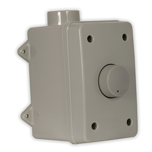 Volume Control Box Weatherproof - Theater Solutions OVCDG Outdoor Speaker Volume Control Gray Weatherproof Dial Switch