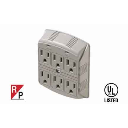 SF Cable, 6 Outlet Wall Mount Surge Protector