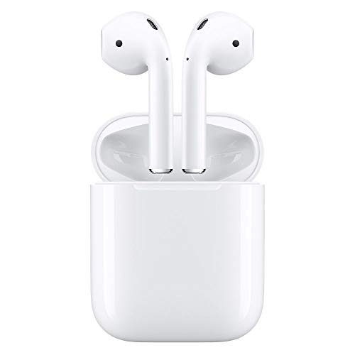 Apple MMEF2AM/A AirPods Wireless Bluetooth Headset for iPhones with iOS 10 or Later White - (Renewed)