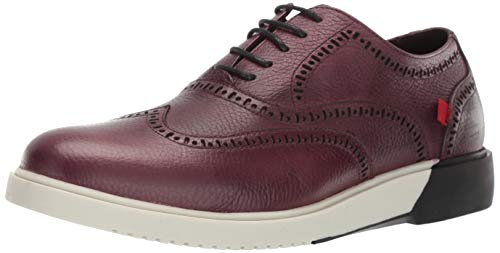 MARC JOSEPH NEW YORK Mens Leather 5th Ave Oxford Shoes, Wine Grainy, 10 M US