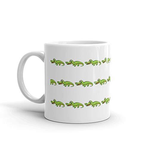 Crocodile Cartoon Style Mug 11 Oz White Ceramic