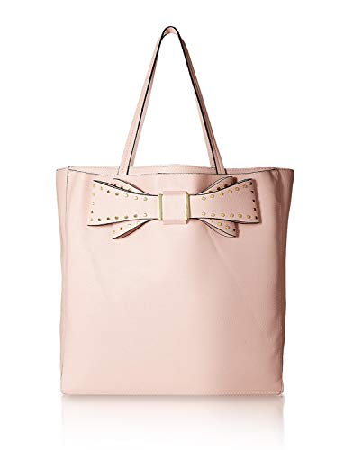 Betsey Johnson Women's Stud Bow Structured Tote Pink One Size (Betsey Johnson Bag Pink Bow)