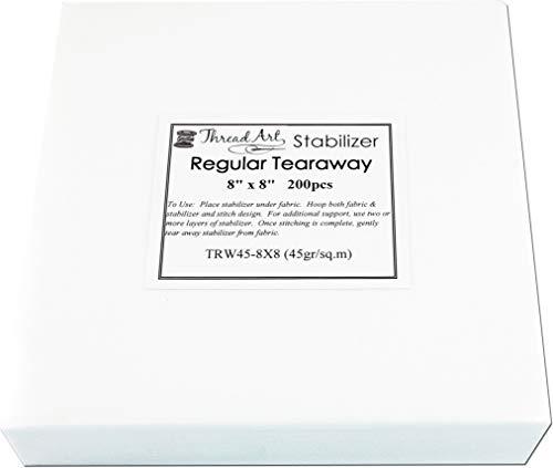 Threadart Tearaway Embroidery Stabilizer | 1.6 oz Medium Weight | 8