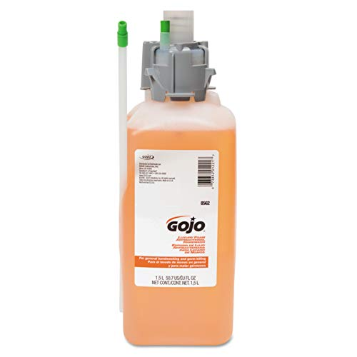 GOJO Luxury Foam Antibacterial Handwash, Orange Blossom Fragrance, 1500 mL Foam Handwash Refill for GOJO CX Dispensers (Pack of 2) - 8562-02