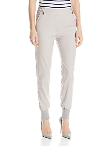 James Jeans Women's Track Elastic Waist Pull On Pant, Silky Warm Grey, 26 by James Jeans