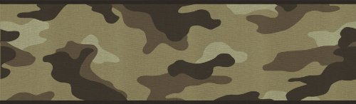 Military Wall Border - Camouflage Camo Wallpaper Wall Border - Desert by Rolling-Borders
