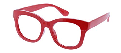 Peepers Women's Blue Light Filtering Center Stage Readers in Red, +1.50