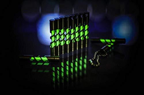 Tritium llavero de acero inoxidable tritio luz brilla en la ...