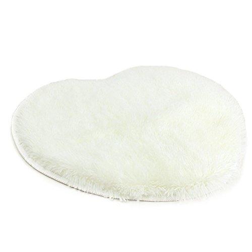 Tinksky Soft Fluffy Bedroom Rug Carpet Floor Mat Cover 60x70cm