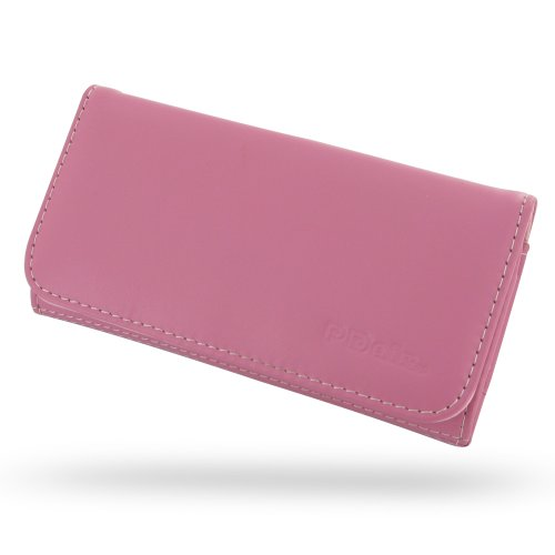 Apple iPhone 5s Leather Wallet Case / Cover (Handmade Genuine Leather) (Petal Pink) by Pdair