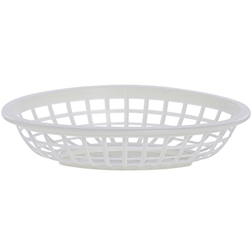 White Sandwich Serving Basket , 7 7/8