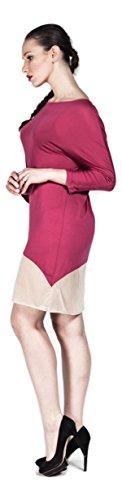 Damen Tunika Kleid in schickem Design, Freizeitkleid/Abendmode in leicht transparentem Tüll, Loose Fit lässiger Schnitt – auch in Große Größen/Übergröße