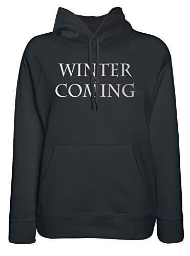 Is Is Coming LaMAGLIERIA Winter Nero Nero Felpa Felpa Cappuccio Donna con IwwHqtAx