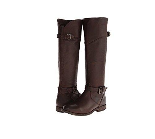FRYE Women's Phillip Riding Boot,Dark Brown Soft Vintage Lea