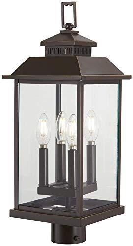 Loft Light 4 (Minka Lavery Outdoor Post Lights 72596-143C Miner's Loft Exterior Post Lantern, 4-Light 160 Watts, Oil Rubbed Bronze)