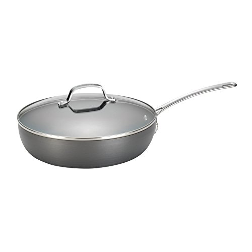 Circulon Genesis Hard-Anodized Nonstick 12-Inch Covered Deep Skillet