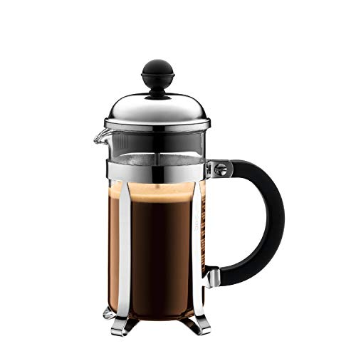 Bodum 1923-16US4 Chambord French Press Coffee and Tea Maker, 12 Oz, Chrome Bodum 3 Cup Coffee