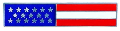 Police Officer Firefighter USA US American Flag Unifom Medal Pin Bar Silver