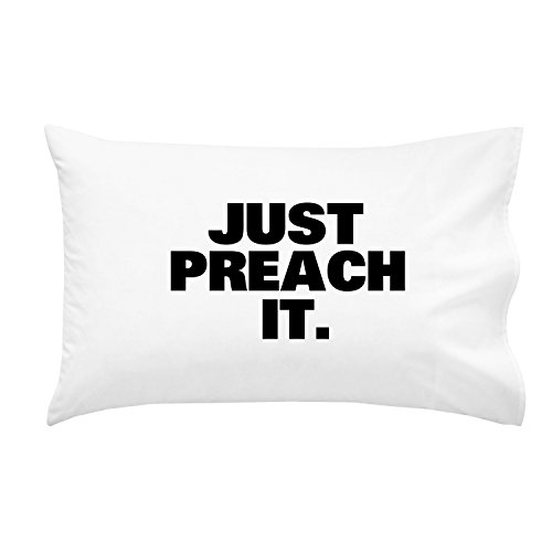 Oh, Susannah Just Preach it Missionary Pillowcase Gift Durable, Breathable, Soft Microfiber Fits Standard or Queen Pillows- Gifts for LDS Missionaries