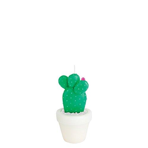 Bright Cactus Apparel - SunnyLife Decorative Figurine Statement Candle for Indoor Outdoor Home Decor - Round Cactus, Small