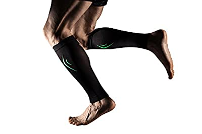 MD Compression Calf Sleeve Leg Compression Socks for Shin Splint, Calf Pain Relief - Men, Women, and Runners - Calf Guard for Running, Cycling, Maternity, Travel, Nurses by MD