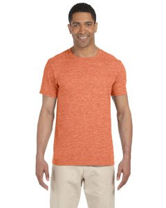 (Gildan Men's Softstyle Ringspun T-shirt - Small - Heather Orange)