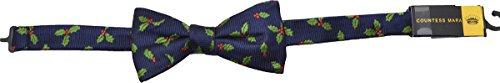 Countess Mara/randa Corp Mens Pre Tied Bow Necktie Holly Holly Woven Navy (Countess Mara Woven Tie)