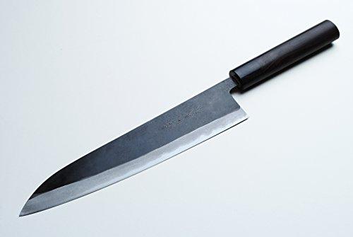 Yoshihiro Mizu Yaki Aogami Super Blue High Carbon Steel Kurouchi Gyuto Chef's Knife 8.25 by Yoshihiro